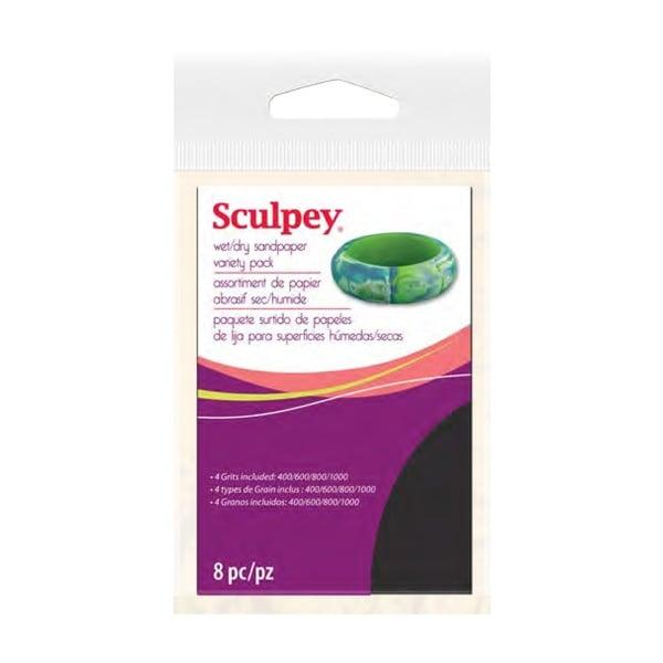 Абразивна хартия за глина Sculpey, 8 части