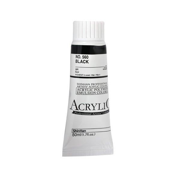 Акрилни бои ARTISTS' ACRYLIC Акрилна боя ARTISTS' ACRYLIC, 50 ml, Black