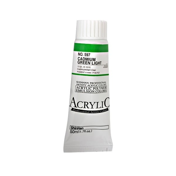 Акрилни бои ARTISTS' ACRYLIC Акрилна боя ARTISTS' ACRYLIC, 50 ml, Cadmium green light