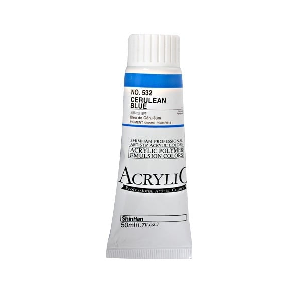 Акрилни бои ARTISTS' ACRYLIC Акрилна боя ARTISTS' ACRYLIC, 50 ml, Cerulean blue