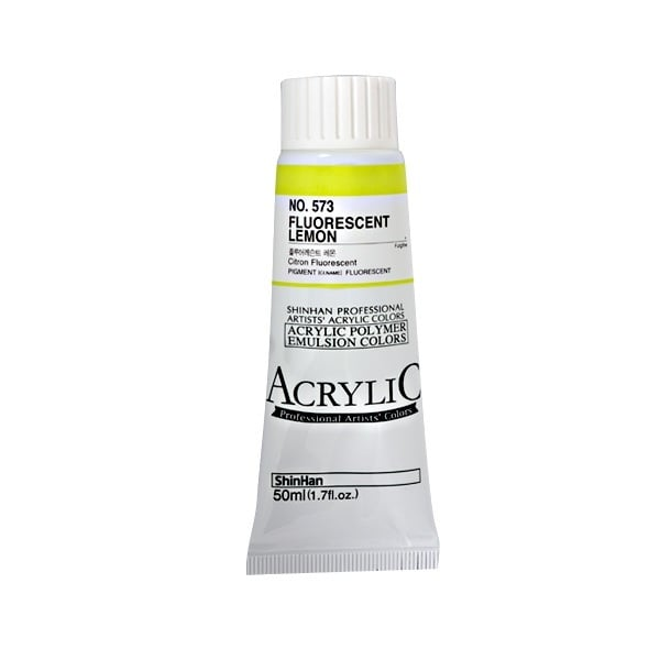 Акрилни бои ARTISTS' ACRYLIC Акрилна боя ARTISTS' ACRYLIC, 50 ml, Fluorescent Lemon