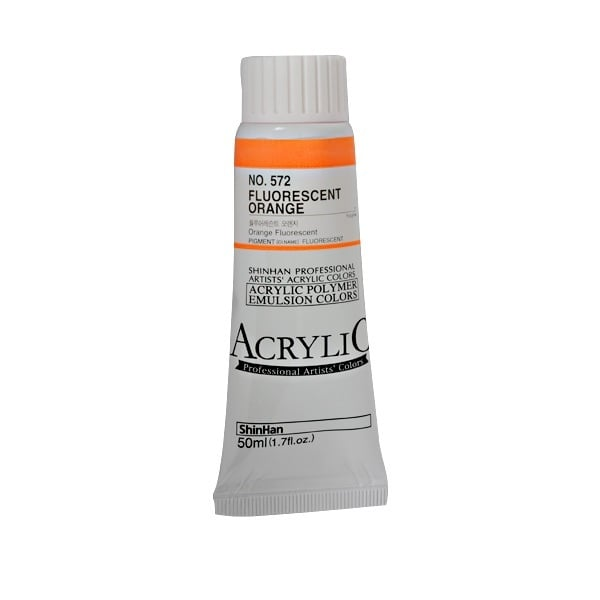 Акрилни бои ARTISTS' ACRYLIC Акрилна боя ARTISTS' ACRYLIC, 50 ml, Fluorescent Orange
