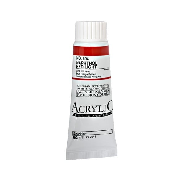 Акрилни бои ARTISTS' ACRYLIC Акрилна боя ARTISTS' ACRYLIC, 50 ml, Naphthol Red Light