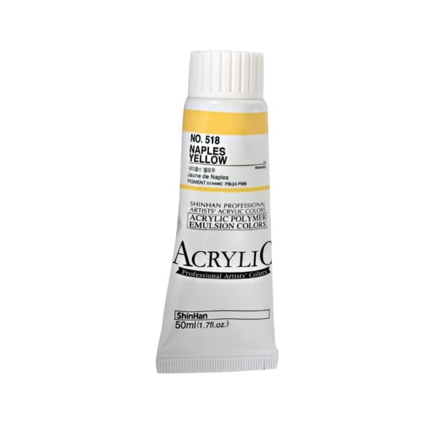 Акрилни бои ARTISTS' ACRYLIC Акрилна боя ARTISTS' ACRYLIC, 50 ml, Naples Yellow