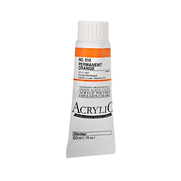 Акрилни бои ARTISTS' ACRYLIC Акрилна боя ARTISTS' ACRYLIC, 50 ml, Permament Orange