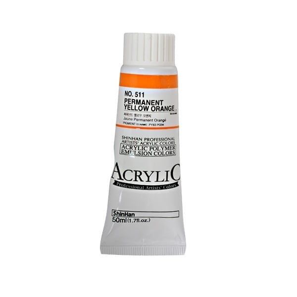 Акрилни бои ARTISTS' ACRYLIC Акрилна боя ARTISTS' ACRYLIC, 50 ml, Permament Yellow Orange