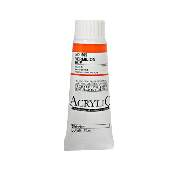 Акрилни бои ARTISTS' ACRYLIC Акрилна боя ARTISTS' ACRYLIC, 50 ml, Vermilion Hue