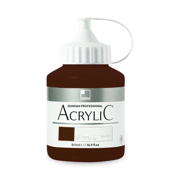 Акрилни бои ARTISTS' ACRYLIC Акрилна боя ARTISTS' ACRYLIC, 500 ml, Burnt Umber