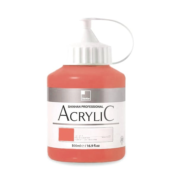 Акрилни бои ARTISTS' ACRYLIC Акрилна боя ARTISTS' ACRYLIC, 500 ml, Coral Red