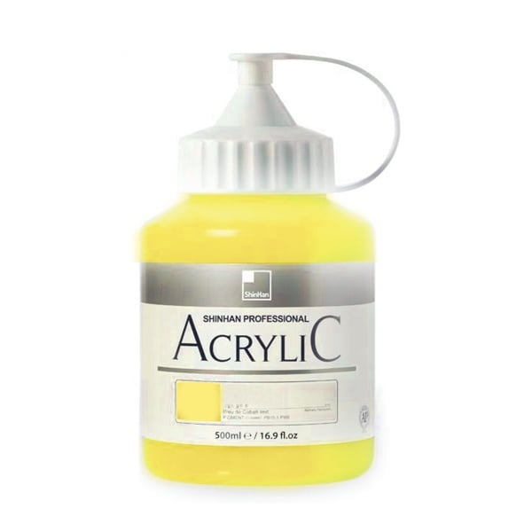 Акрилни бои ARTISTS' ACRYLIC Акрилна боя ARTISTS' ACRYLIC, 500 ml, Fluorescent Lemon