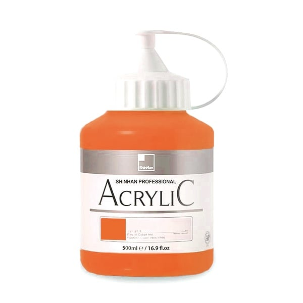 Акрилни бои ARTISTS' ACRYLIC Акрилна боя ARTISTS' ACRYLIC, 500 ml, Permament Orange