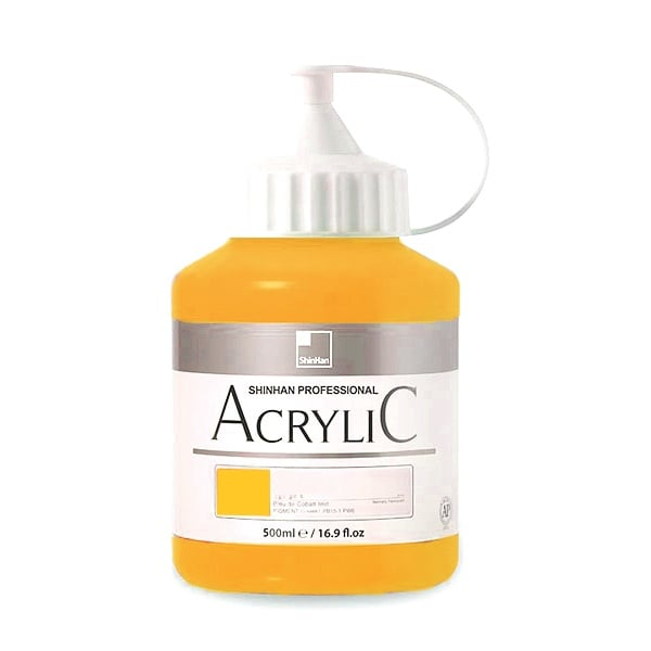 Акрилни бои ARTISTS' ACRYLIC Акрилна боя ARTISTS' ACRYLIC, 500 ml, Permament Yellow Deep