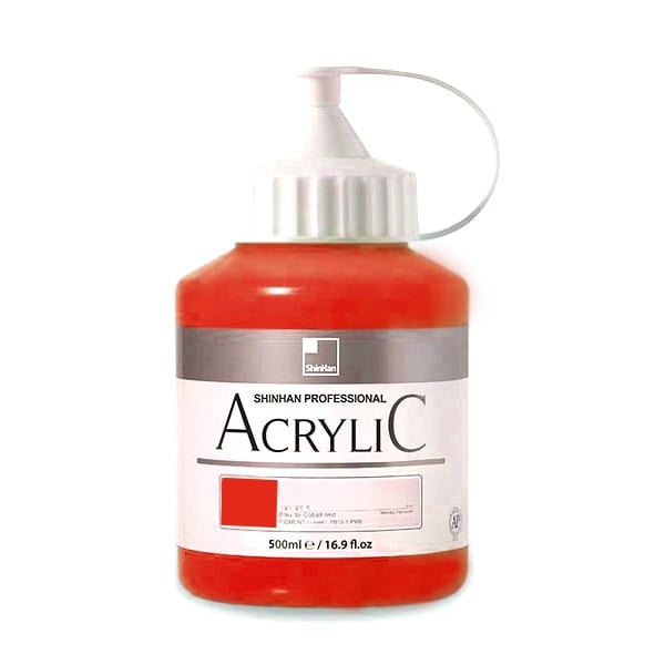 Акрилни бои ARTISTS' ACRYLIC Акрилна боя ARTISTS' ACRYLIC, 500 ml, Vermilion Hue