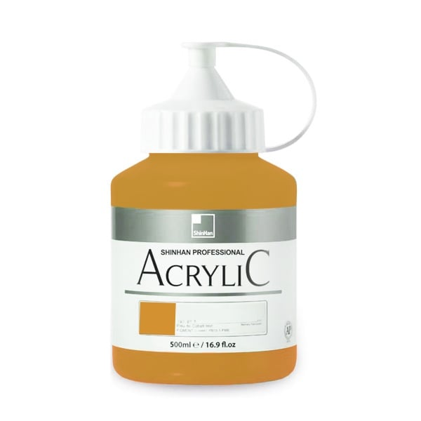 Акрилни бои ARTISTS' ACRYLIC Акрилна боя ARTISTS' ACRYLIC, 500 ml, Yellow Ochre