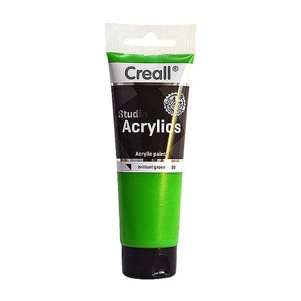 Акрилна боя CREALL-STUDIO-ACRYLICS, 120 ml Акрилна боя CREALL-STUDIO-ACRYLICS, 120 ml, брилянтно зелена
