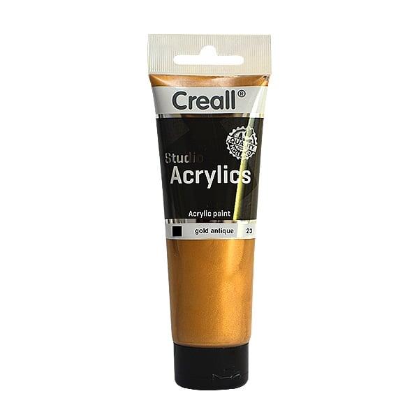 Акрилни металик бои CREALL STUDIO, 120 / 240 ml Акрилна металик боя CREALL STUDIO, 120 ml, антично злато
