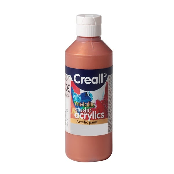 Акрилни металик бои CREALL STUDIO, 120 / 240 ml Акрилна металик боя CREALL STUDIO, 250 ml, медна
