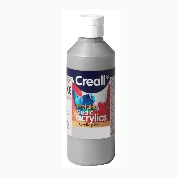 Акрилни металик бои CREALL STUDIO, 120 / 240 ml Акрилна металик боя CREALL STUDIO, 250 ml, сребърна