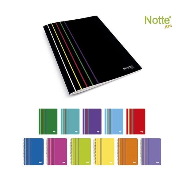 Тетрадка Notte Arc, A4, спирала, PP корица, 60 л., квадрат, 60 g/m2