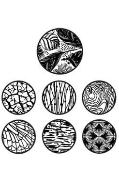 Шаблон за глина Sculpey, Floral, 7 части