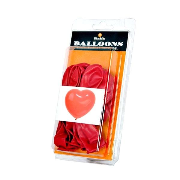 Балон с форма на сърце, 10 бр. Балон с форма на сърце, ф 30 cm, 10 бр., червен