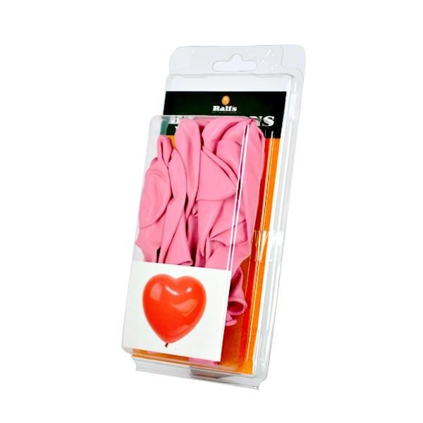 Балон с форма на сърце, 10 бр. Балон с форма на сърце, ф 30 cm, 10 бр., розов