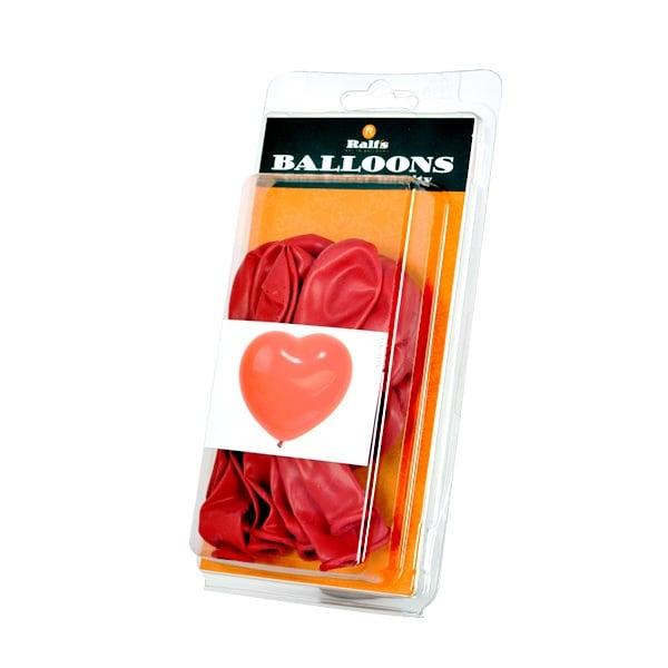Балон с форма на сърце, 10 бр. Балон с форма на сърце, ф 40 cm, 10 бр., червен