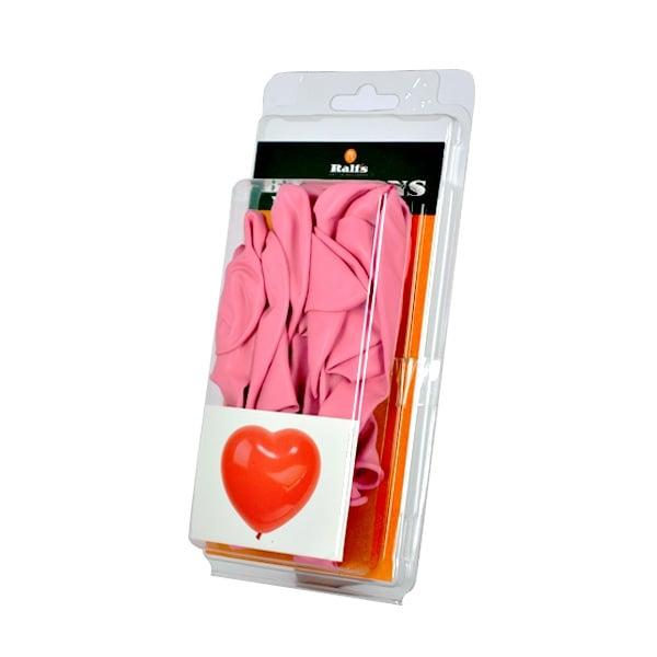Балон с форма на сърце, 10 бр. Балон с форма на сърце, ф 40 cm, 10 бр., розов