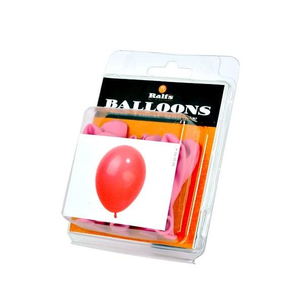 Балони кръгли, 10 бр. Балони кръгли, ф 12,5 cm, 10 бр., розов
