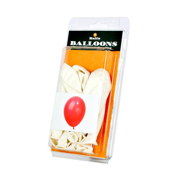 Балони кръгли, 10 бр. Балони кръгли, ф 30 cm, 10 бр., бял