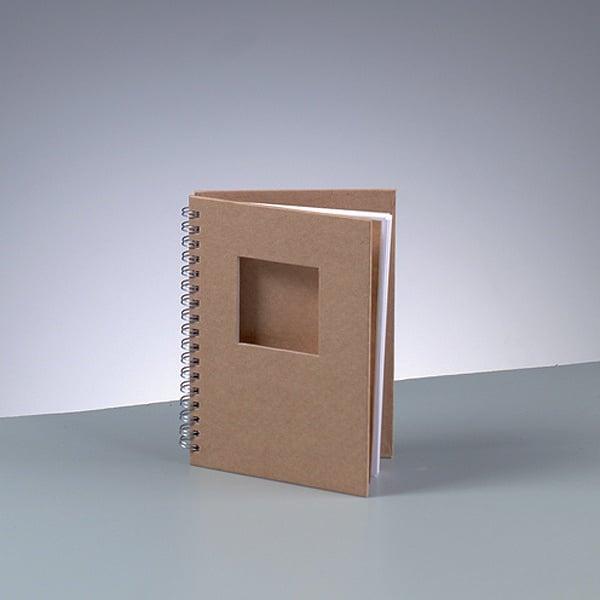 Бележник за скрапбукинг, A 6 / 15,5 × 11 cm, 60 стр., 70 g/m², кафяв Бележник за скрапбукинг, квадрат, A 6 / 15,5 × 11 cm, 60 стр., 70 g/m², кафяв