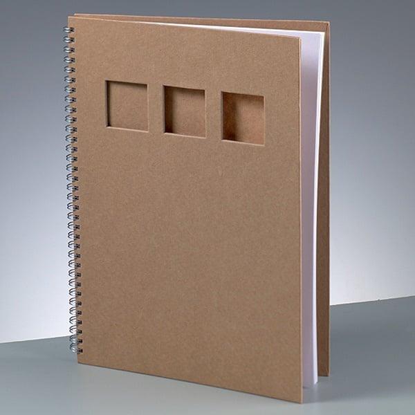 Бележник за скрапбукинг, A 4 / 30 × 21,5 cm, 60 стр., 70 g/m², кафяв