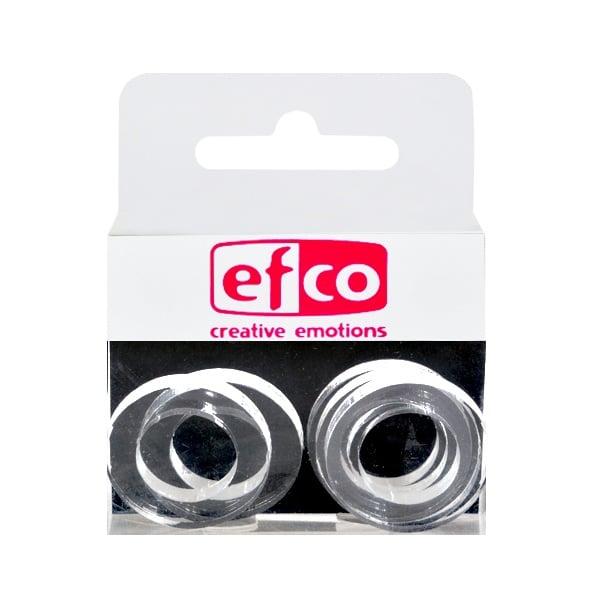 Бижу Acryl Duo, кръг, 4 / 24 mm, 5 броя, прозрачно