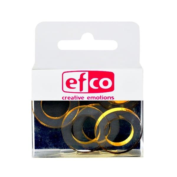 Бижу Acryl Duo, кръг, 4 / 24 mm, 5 броя, прозрачно с маслинен оттенък