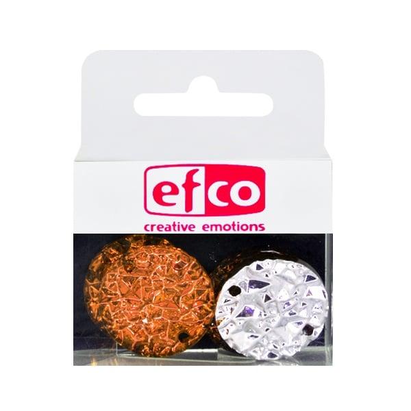 Бижу Acryl Ice crystal, кръг, 22 mm, 5 броя, кафяви