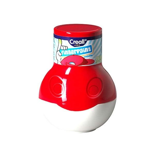 Боички за рисуване с ръце CREALL Mini, 500 ml Боички за рисуване с ръце CREALL Mini, 500 ml, червена
