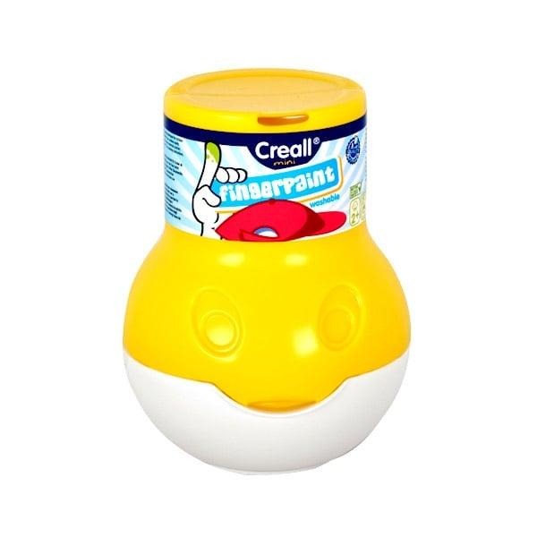 Боички за рисуване с ръце CREALL Mini, 500 ml Боички за рисуване с ръце CREALL Mini, 500 ml, жълта