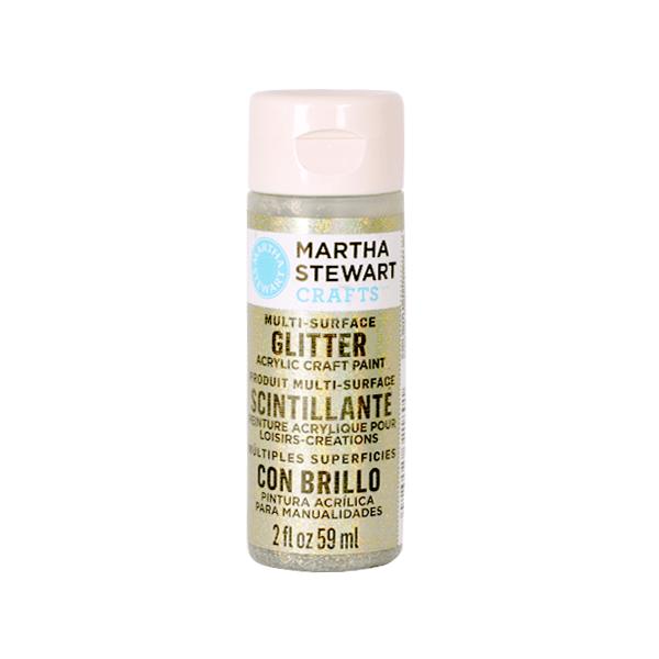 Акрилни бои Martha Stewart, 59 ml, Glitter Боя акрилна Martha Stewart, 59 ml, Glitter, antique silver
