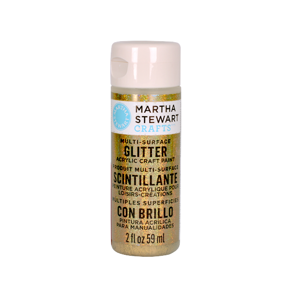 Акрилни бои Martha Stewart, 59 ml, Glitter Боя акрилна Martha Stewart, 59 ml, Glitter, florentine gold
