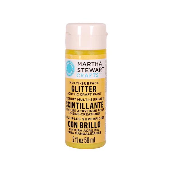 Акрилни бои Martha Stewart, 59 ml, Glitter Боя акрилна Martha Stewart, 59 ml, Glitter, lemon drop