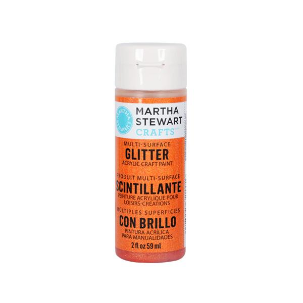 Акрилни бои Martha Stewart, 59 ml, Glitter Боя акрилна Martha Stewart, 59 ml, Glitter, orange sorbet