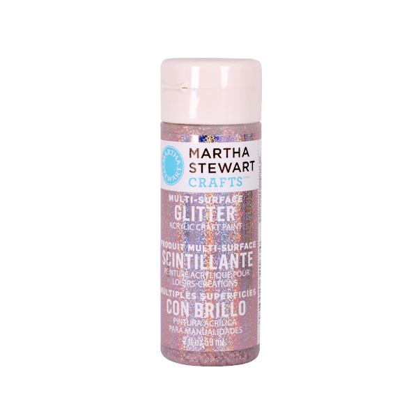 Акрилни бои Martha Stewart, 59 ml, Glitter Боя акрилна Martha Stewart, 59 ml, Glitter, rose quartz