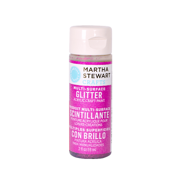 Акрилни бои Martha Stewart, 59 ml, Glitter Боя акрилна Martha Stewart, 59 ml, Glitter, rubellite