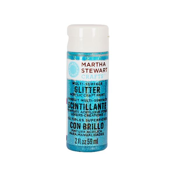 Акрилни бои Martha Stewart, 59 ml, Glitter Боя акрилна Martha Stewart, 59 ml, Glitter, turquoise