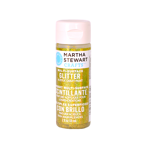 Акрилни бои Martha Stewart, 59 ml, Glitter Боя акрилна Martha Stewart, 59 ml, Glitter, yellow barite