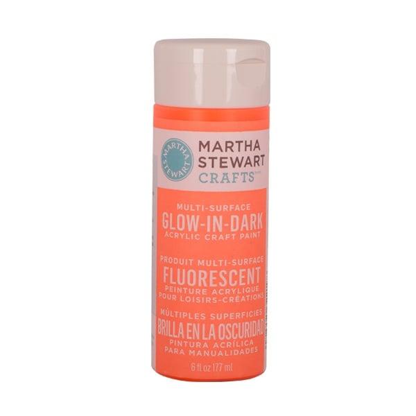 Акрилни бои Martha Stewart, Glow in the Dark, 177 ml Боя акрилна Martha Stewart, Glow in the Dark, 177 ml, оранжева
