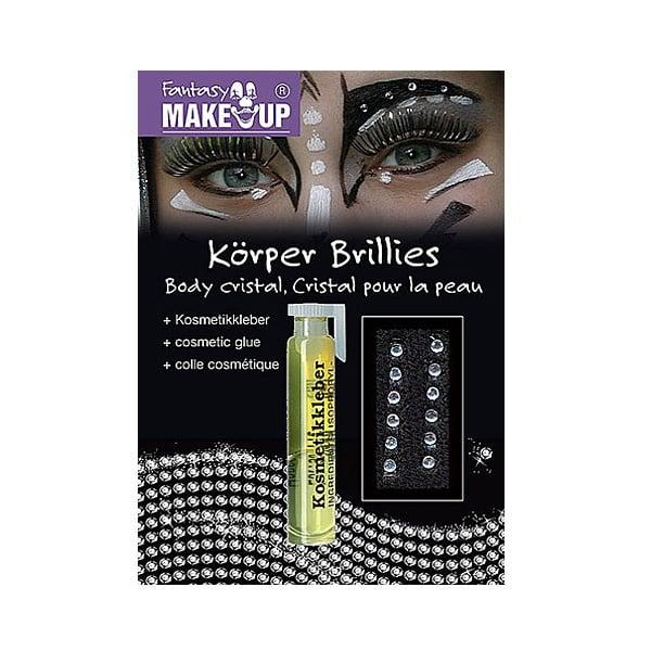 Брилянти за ефектен грим KorperBrillies, 12 броя + козм.лепило