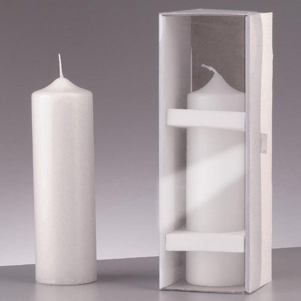 Цилиндрична свещ, ф 60 x H 200 mm, бял