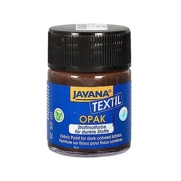 Текстилна боя, Opak JAVANA, 50 ml /за светла  и тъмна основа/ Текстилна боя OPAK JAVANA, 50 ml, еленово кафяв