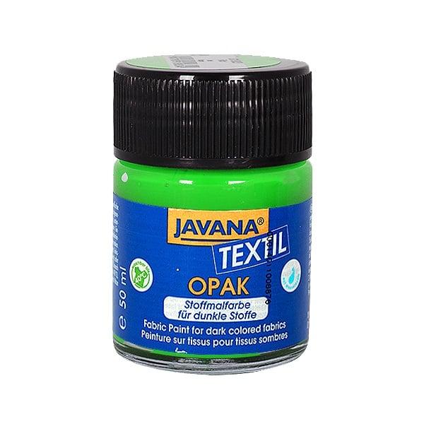 Текстилна боя, Opak JAVANA, 50 ml /за светла  и тъмна основа/ Текстилна боя OPAK JAVANA, 50 ml, тревно зелен